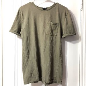 Ninth Hall Army green tee
